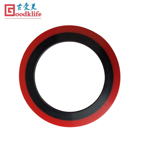 Dual durometer rubber stripper rings